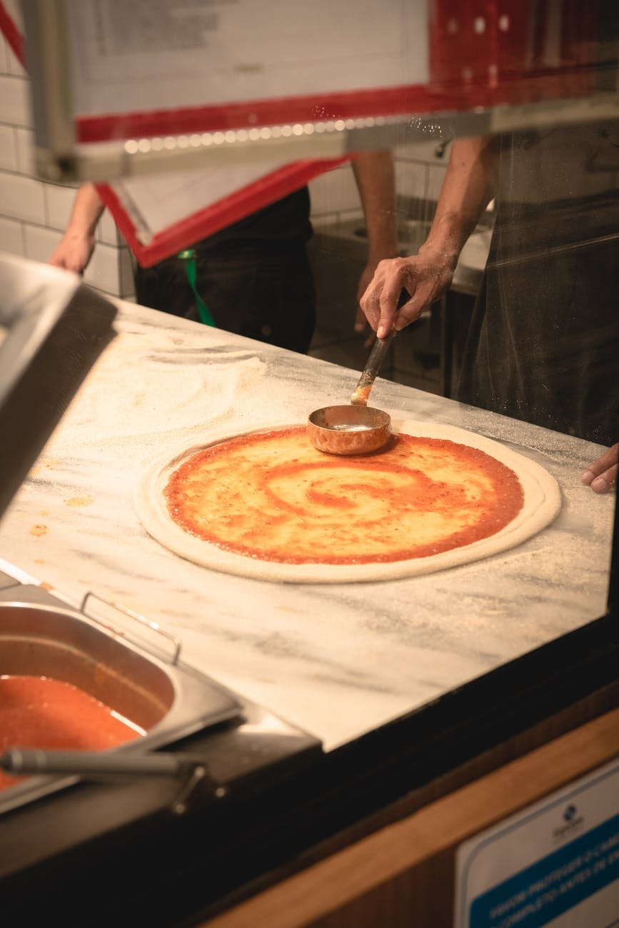 photo of making a pizza